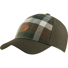 Fjällräven Övik Plaid Cap, deep forest